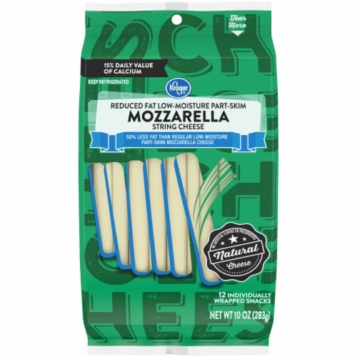 Kroger® Reduced Fat Mozzarella String Cheese Perspective: front