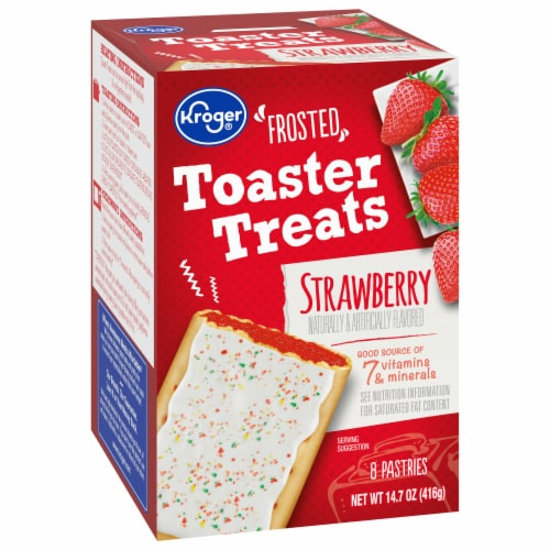 Kroger® Frosted Strawberry Toaster Treats Perspective: front