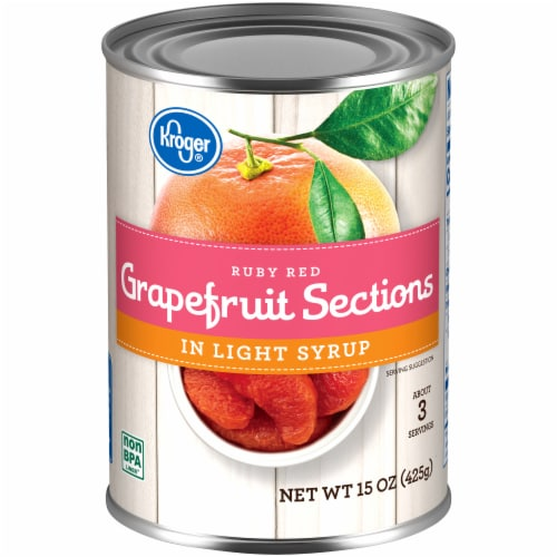 Kroger® Ruby Red Grapefruit Sections in Light Syrup Perspective: front