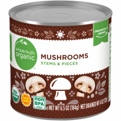 Simple Truth Organic™ Mushrooms Stems & Pieces Perspective: front