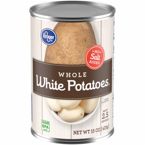 Kroger® No Salt Added Whole White Potatoes Perspective: front