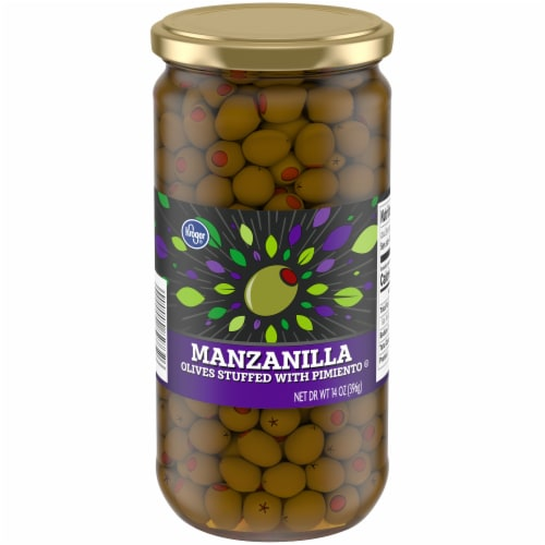 Kroger® Manzanilla Olives Stuffed with Pimiento Perspective: front