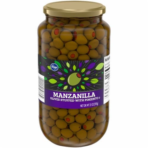Kroger® Pimiento Stuffed Manzanilla Olives Perspective: front