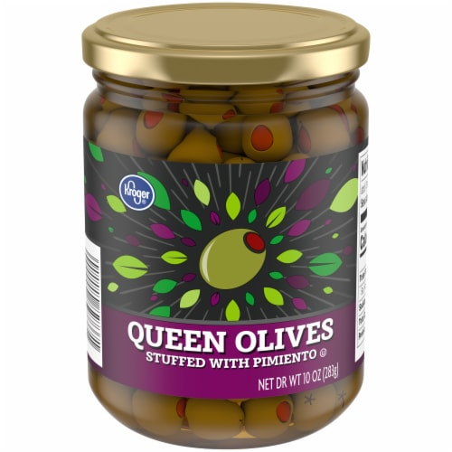 Kroger® Queen Olives Stuffed With Pimiento Perspective: front