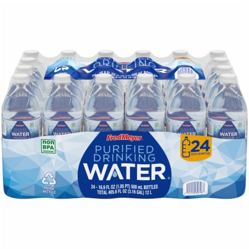 Fred Meyer Purified Drinking Water Perspective: front