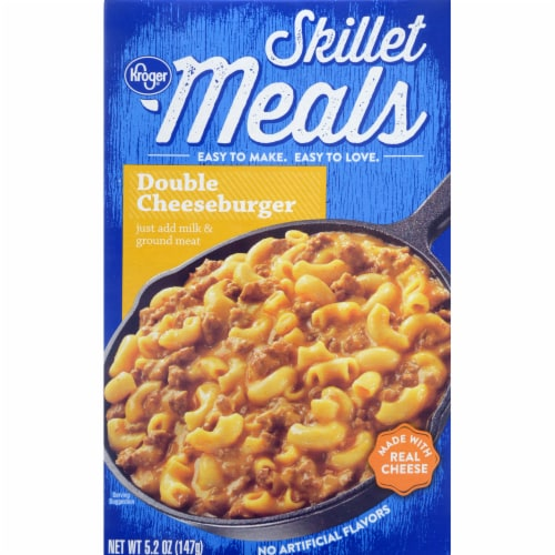 Kroger® Skillet Meals Double Cheeseburger Meal Perspective: front