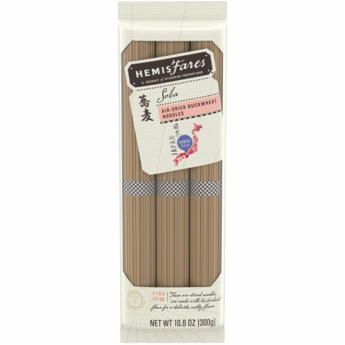 HemisFares Soba Air-Dried Buckwheat Noodles Perspective: front