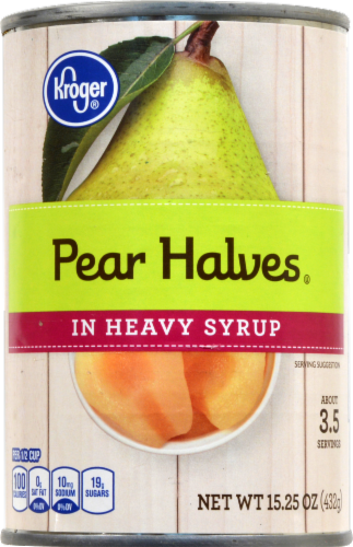 Kroger® Pear Halves in Heavy Syrup Perspective: front