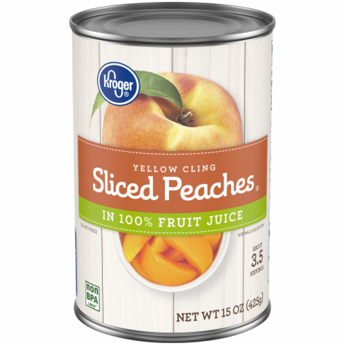 Kroger® Yellow Cling Sliced Peaches in Fruit Juice Perspective: front