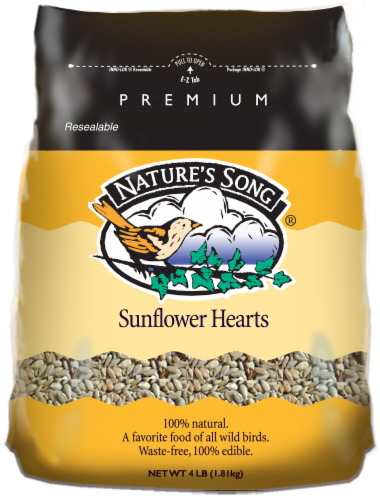 Nature's Song® Sunflower Hearts Wild Bird Seed Perspective: front