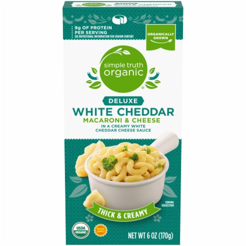 Simple Truth Organic® Thick & Creamy Deluxe White Cheddar Macaroni & Cheese Perspective: front