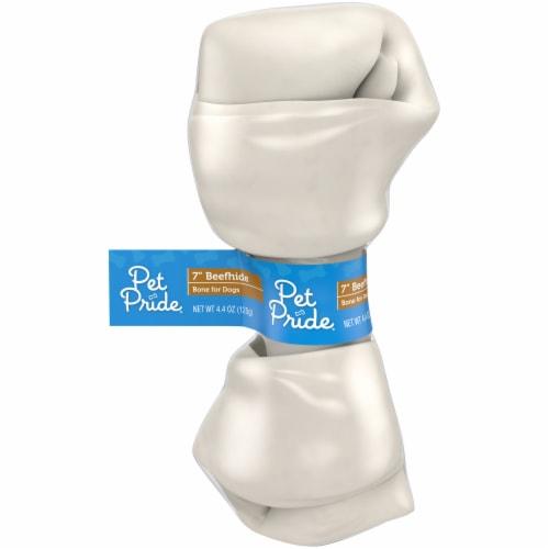 Pet Pride™ Natural Rawhide Dog Bone Perspective: front