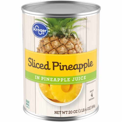 Kroger® Sliced Pineapple in Pineapple Juice Perspective: front