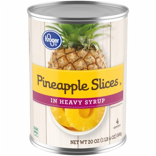 Kroger® Pineapple Slices in Heavy Syrup Perspective: front