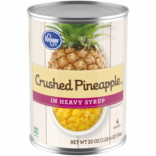 Kroger® Crushed Pineapple in Heavy Syrup Perspective: front