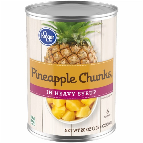 Kroger® Pineapple Chunks in Heavy Syrup Perspective: front
