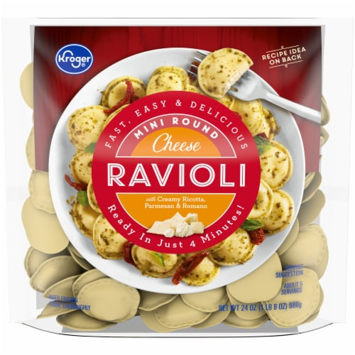 Kroger® Cheese Mini Round Ravioli Perspective: front