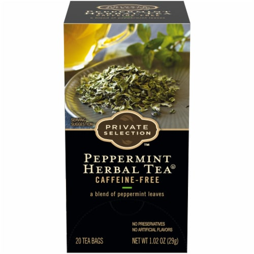 Private Selection™ Peppermint Herbal Tea Bags Perspective: front