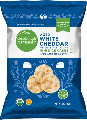 Simple Truth Organic™ Aged White Cheddar Mini Rice Cakes Perspective: front