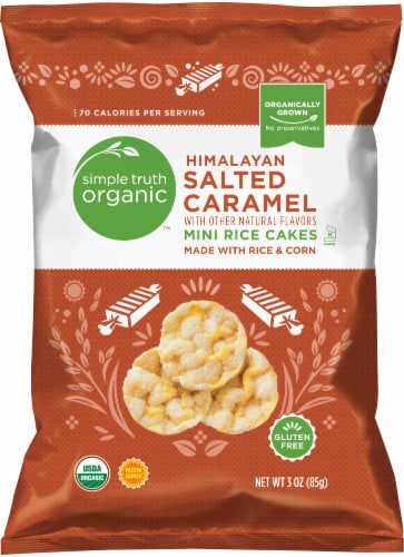 Simple Truth Organic™ Himalayan Salted Caramel Mini Rice Cakes Perspective: front