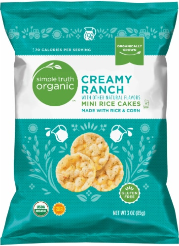 Simple Truth Organic™ Creamy Ranch Mini Rice Cakes Perspective: front