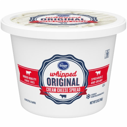 Kroger® Original Whipped Cream Cheese Spread Perspective: front