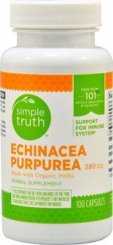 Simple Truth™ Echinacea Purpurea Capsules 380 mg Perspective: front