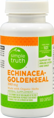 Simple Truth™ Echinacea Goldenseal Capsules 380 mg Perspective: front
