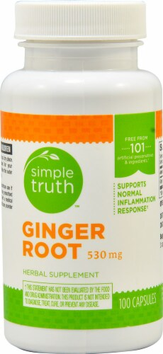 Simple Truth™ Ginger Root Capsules 530 mg Perspective: front