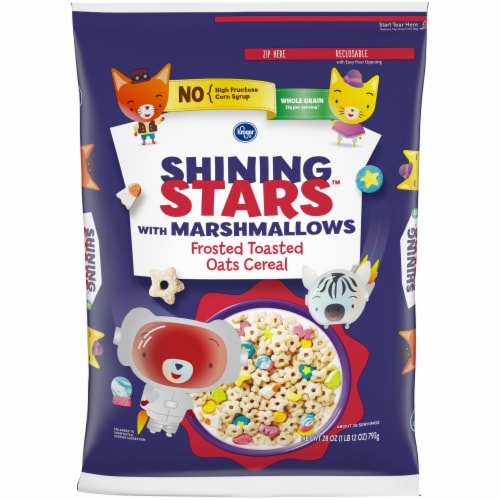 Kroger® Shining Stars with Marshmallows Frosted Toasted Oats Cereal Perspective: front