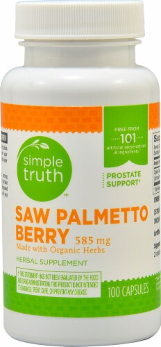 Simple Truth™ Saw Palmetto Berry Capsules 585 mg Perspective: front