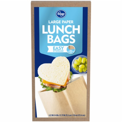Kroger® Large Size Paper Lunch Bags Perspective: front