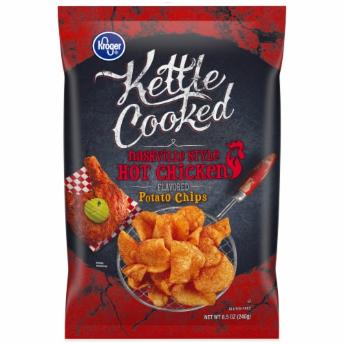 Kroger®  Nashville Style Kettle Cooked Hot Chicken Potato Chips Perspective: front