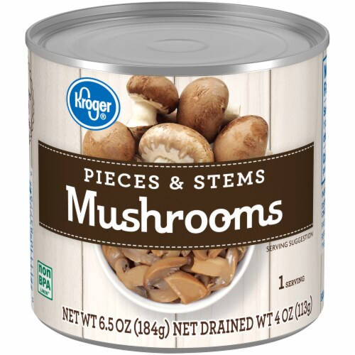 Kroger® Mushrooms Pieces & Stems Perspective: front
