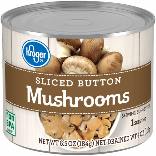 Kroger® Sliced Button Mushrooms Perspective: front