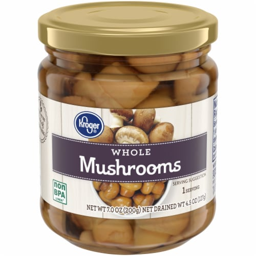 Kroger® Whole Mushrooms Perspective: front