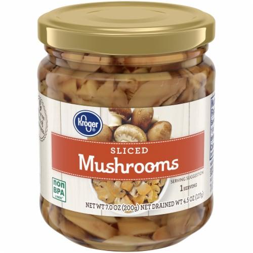 Kroger® Sliced Mushrooms Perspective: front