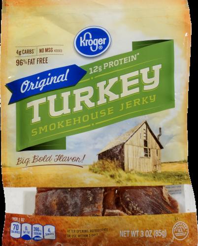 Kroger Turkey Smokehouse Jerky Perspective: front