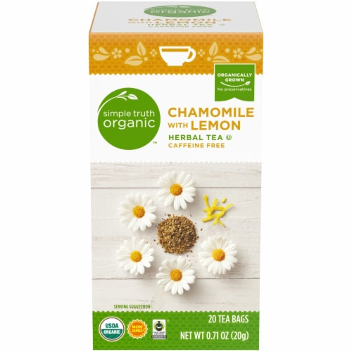 Simple Truth Organic™ Chamomile with Lemon Herbal Tea Bags Perspective: front