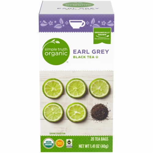 Simple Truth Organic™ Earl Grey Black Tea Bags Perspective: front
