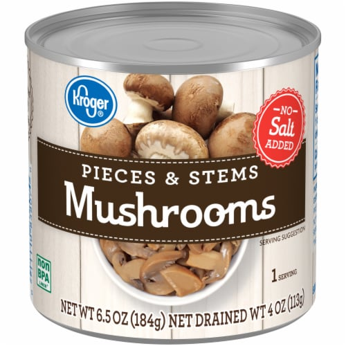 Kroger® No Salt Added Mushrooms Pieces & Stems Perspective: front