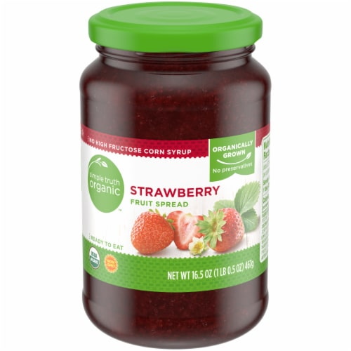 Simple Truth Organic™ Strawberry Fruit Spread Perspective: front