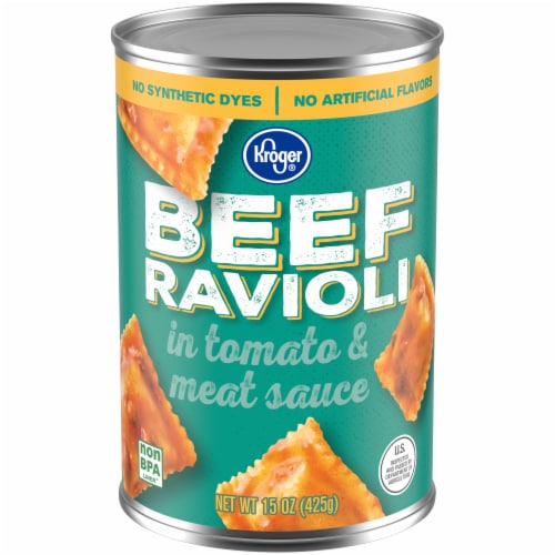 Kroger® Beef Ravioli in Tomato & Meat Sauce Perspective: front