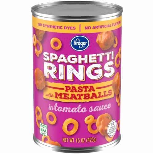 Kroger® Spaghetti Rings Pasta with Meatballs Perspective: front