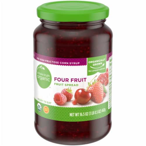 Simple Truth Organic™ Four Fruit Fruit Spread Perspective: front