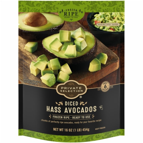 Private Selection® Diced Hass Avocados Perspective: front