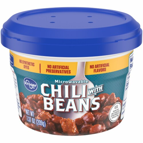 Kroger® Chili with Beans Microwavable Cup Perspective: front