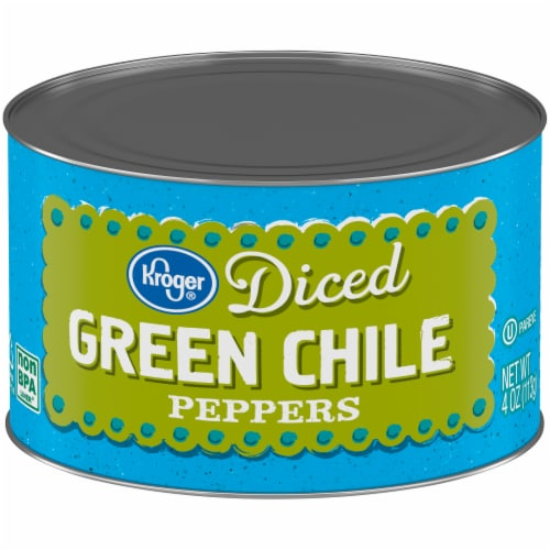 Kroger® Diced Green Chile Peppers Perspective: front