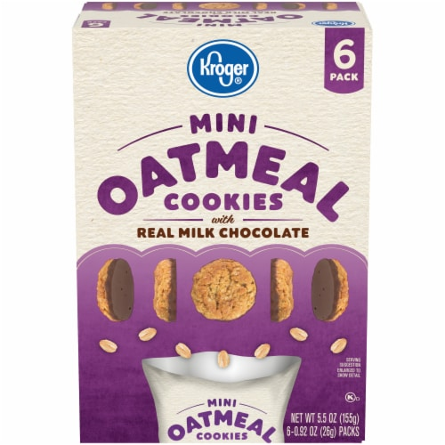 Kroger® Mini Oatmeal Cookies with Real Milk Chocolate Perspective: front