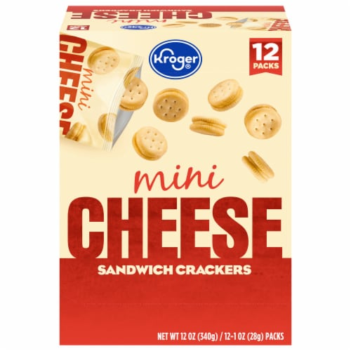 Kroger® Mini Cheese Sandwich Crackers Perspective: front